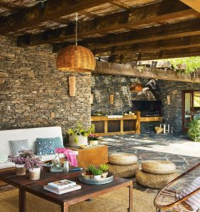 Porches Rusticos Con Barbacoa