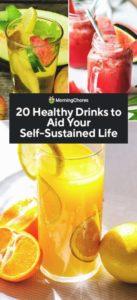 20 recetas fáciles de bebidas saludables que puede hacer en casa